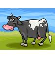 cow farm animal cartoon vector image