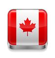 Metal icon of Canada vector image