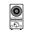 retro radio icon vector image