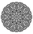 round mandala black and white vector image