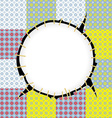 Round patch frame vector image