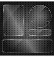 Set of transparent blank glass panels vector image