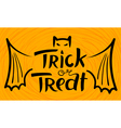 Trick or treat Halloween lettering vector image