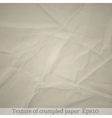 Crumpled paper background 1 vector image