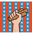 american bacon vector image vector image
