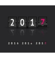 New Year concept Flip board at different states vector image