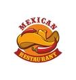 Mexican restaurant icon emblem vector image