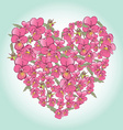 beautiful pink pansy heart Background for vector image