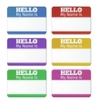 Hello My Name Is Introduction cards labels and vector image vector image