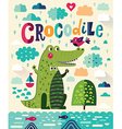 Cute crocodile vector image vector image