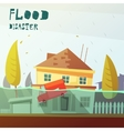 Flood Disaster vector image vector image