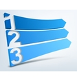 Abstract numbered banners vector image