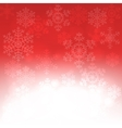 Christmas card with glowing snowflakes vector image
