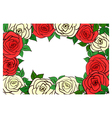 Frame of roses red vector image