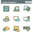 Icons line set premium quality of data science vector image