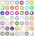 Large set of diamonds all colors vector image