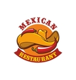 Mexican restaurant icon emblem vector image