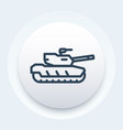 modern tank icon armoured fighting vehicle vector image