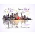 new york sketch vector image