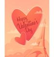 Valentine s day Lettering Heart Trendy Vintage vector image