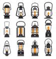 Vintage Camping Lantern Labels vector image