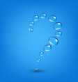 Water Drop Wall Question vector image