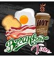 Classic breakfast motel advertisement retro poster vector image
