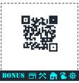 Qr code icon flat vector image