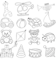 Babys toys set vector image vector image