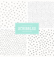 scribbles pattern collection vector image