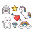 cute objects set vector image