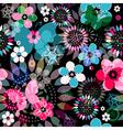 Seamless dark floral pattern vector image vector image