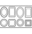 frames borders vector image vector image