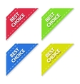 Set of Flat Signs Best Choice vector image
