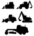 car equipment for construction work 02 vector image
