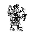 Shaman of tribe makes ritual vector image vector image