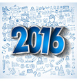 2016 Business Conceptual creative drawing business vector image vector image