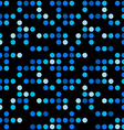 Abstract seamless pattern Blue dots over black vector image