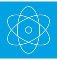 Atom thin line icon vector image
