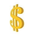 Dollar sign cartoon icon vector image