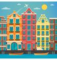 European City Urban Scene European Architecture vector image
