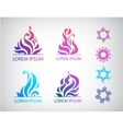 set of hand drawn abstract floral icons vector image