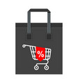 shopping bag big cart vector image