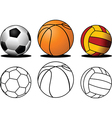 Collection of balls vector image vector image