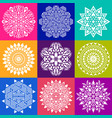 geometric abstract mandala collection vector image