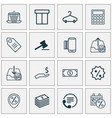 ecommerce icons set collection of e-trade dollar vector image