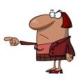Angry boss cartoon vector image