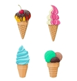 Set of ice-cream isolated on white vector image