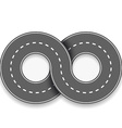 road in the form of an infinity sign vector image