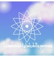 Ayurvedic flower lotus on blue sky background vector image